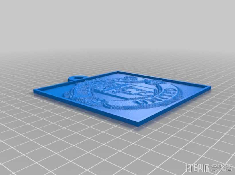 曼彻斯特联足球俱乐部 浮雕 3D打印模型渲染图