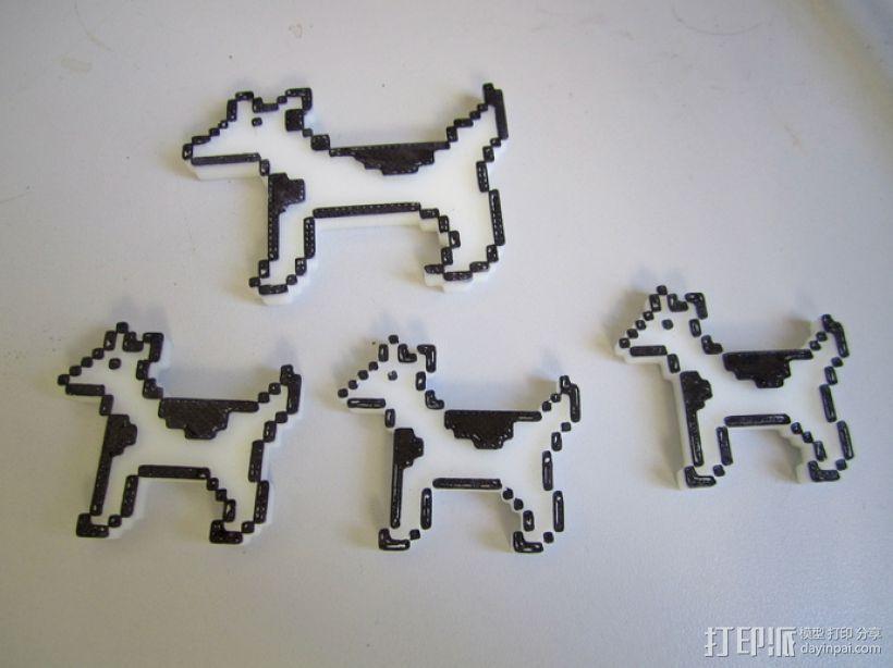 斑点狗 3D打印模型渲染图