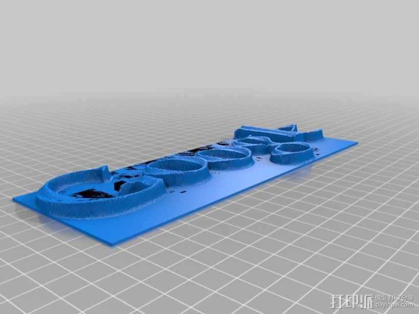 谷歌 标签 3D打印模型渲染图