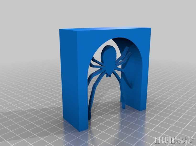 蜘蛛 拱门 3D打印模型渲染图