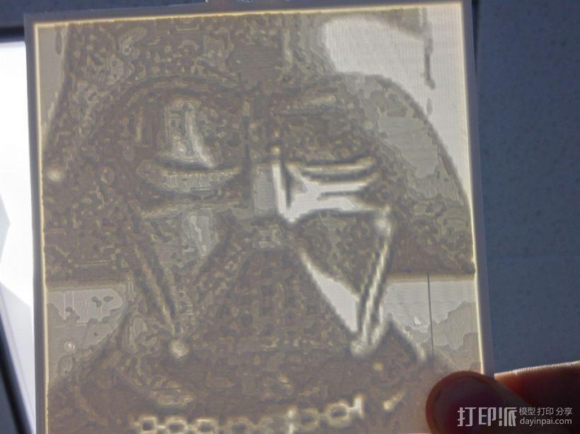 黑武士 浮雕 3D打印模型渲染图