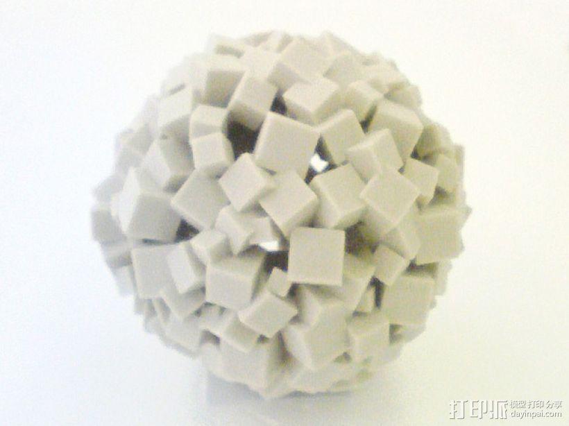 立方体 圆球 3D打印模型渲染图