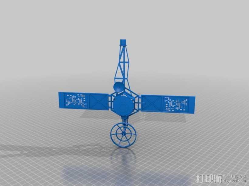 水手4号探测器 3D打印模型渲染图