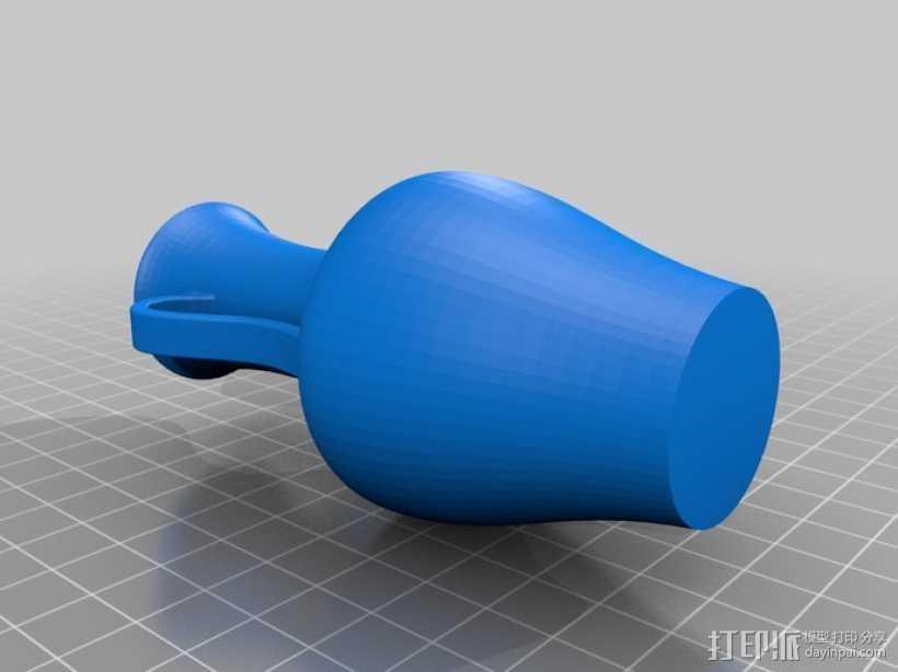 双耳瓶 3D打印模型渲染图