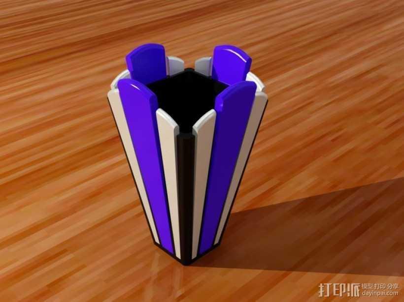 装饰艺术风格 花瓶 3D打印模型渲染图