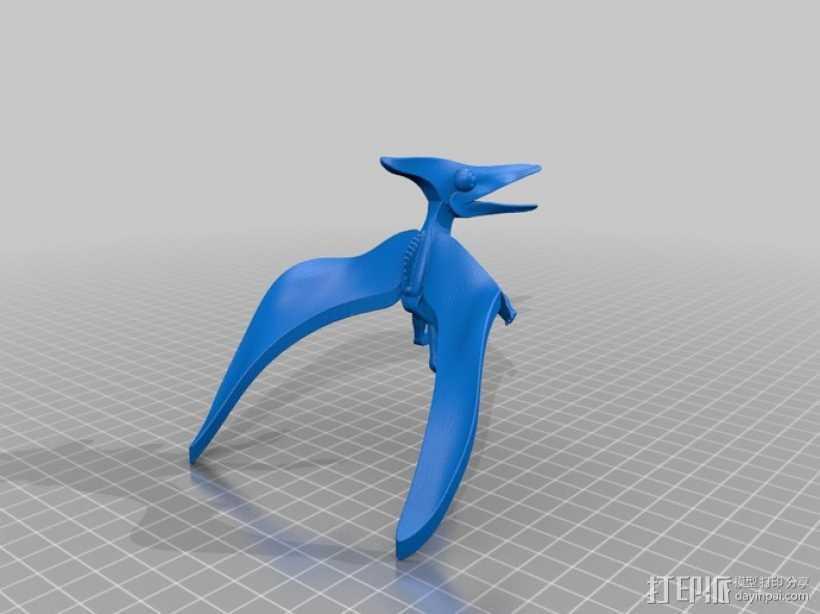 翼龙 3D打印模型渲染图