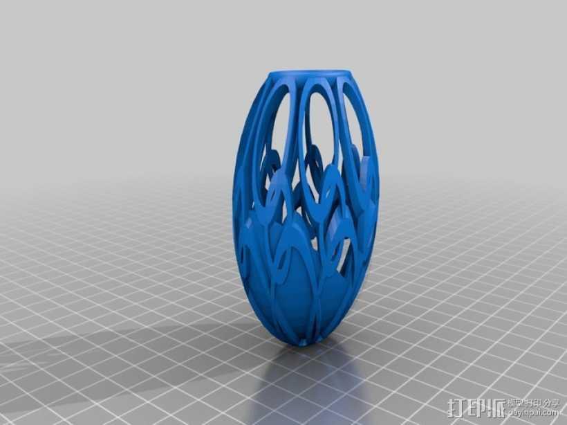 定制化艺术花瓶 3D打印模型渲染图