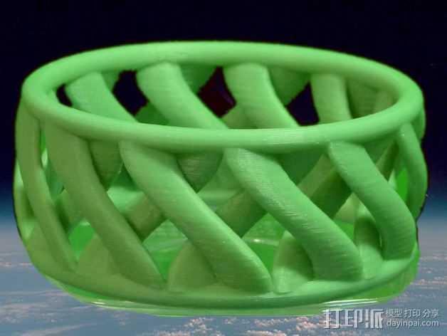 环形手链 3D打印模型渲染图