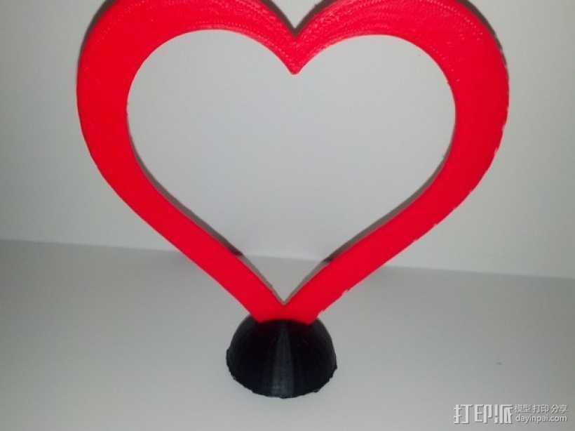 心 底座 3D打印模型渲染图