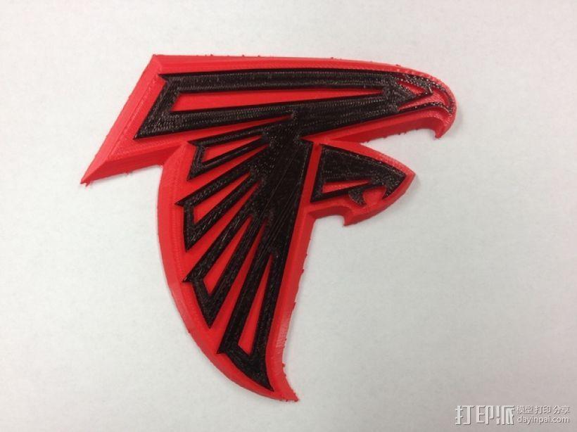 亚特兰大猎鹰 标志 3D打印模型渲染图
