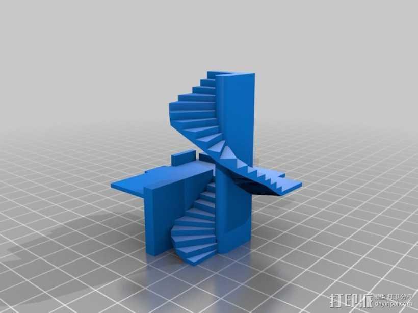 楼道 楼梯 3D打印模型渲染图