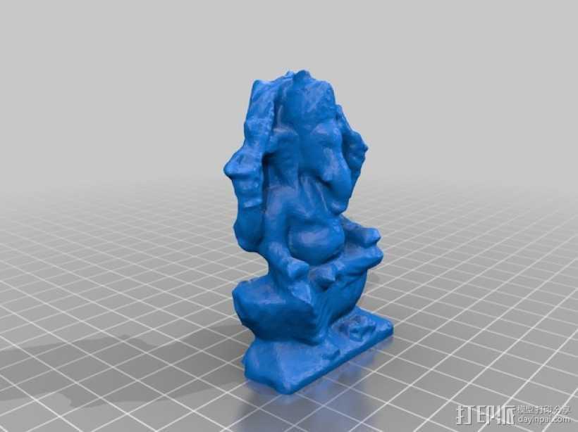 伽内什 印度神像   3D打印模型渲染图