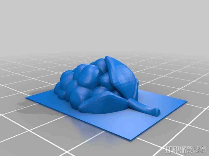 树莓  3D打印模型渲染图
