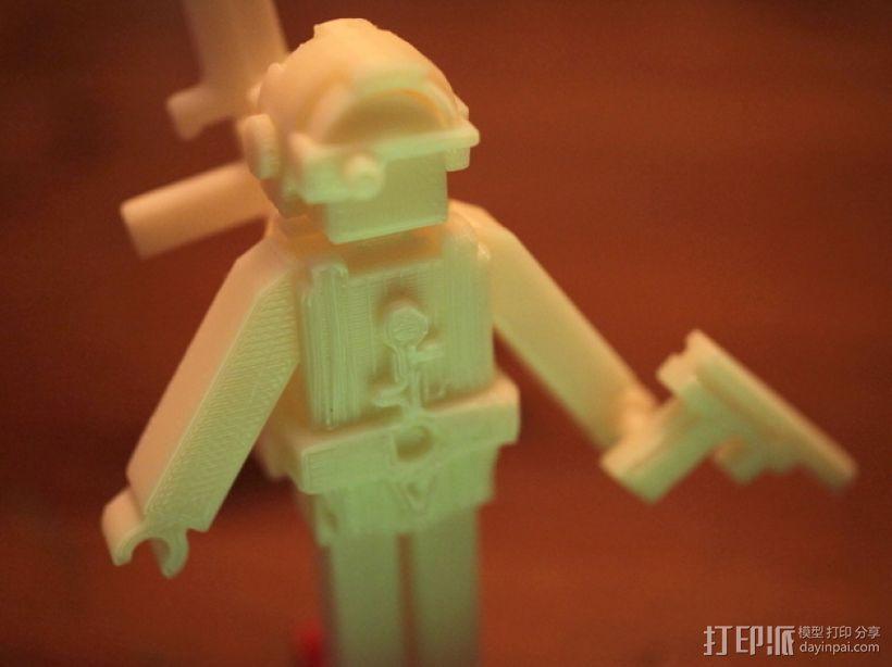士兵 玩具 3D打印模型渲染图
