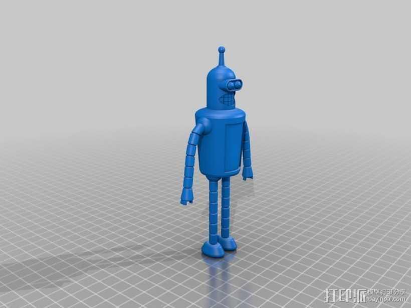 Bender Bendie机器人制作模具 3D打印模型渲染图