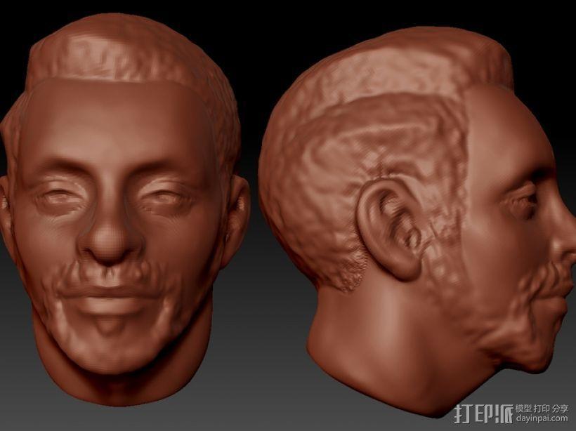 写实人物 半身像  3D打印模型渲染图