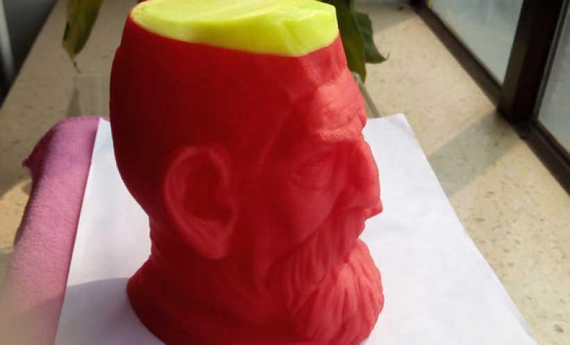 僵尸猎人头雕像 3D打印实物照片