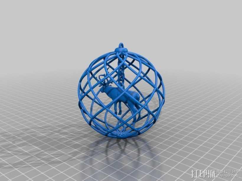 圣诞装饰品 3D打印模型渲染图