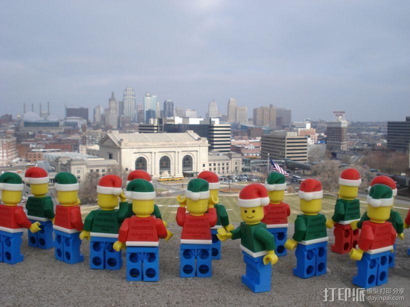 圣诞乐高堪萨斯城的人 3D打印模型渲染图