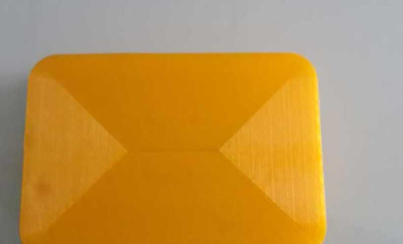 黄色的肥皂盒子 3D打印实物照片