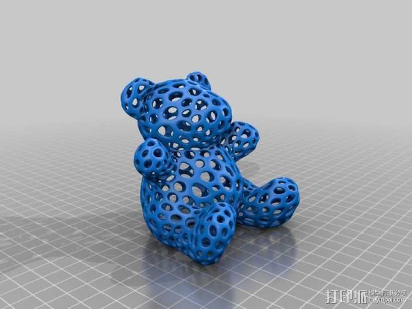 泰迪熊小玩偶 3D打印模型渲染图