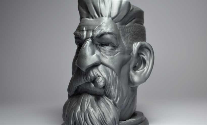 僵尸猎人头 3D打印实物照片