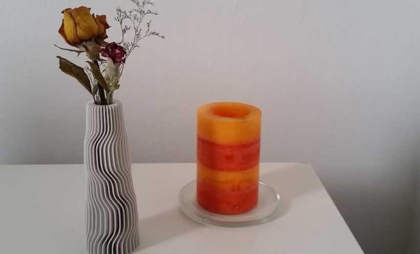 地层 花瓶 3D打印实物照片