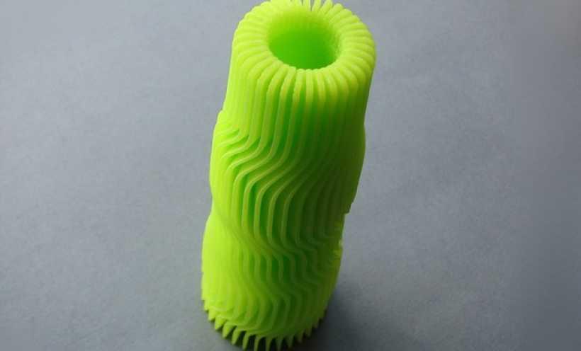 黄色 花瓶 3D打印实物照片
