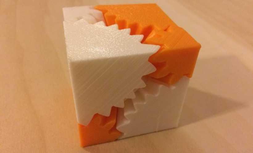 立方体齿轮 3D打印实物照片