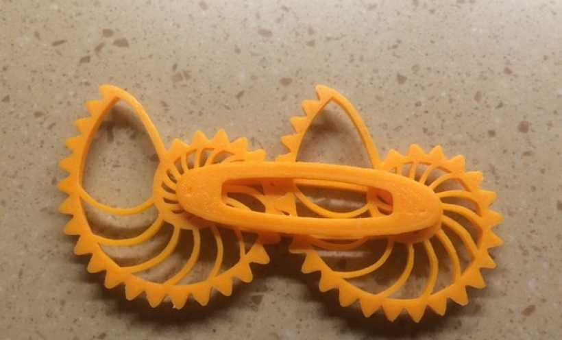 鹦鹉螺齿轮 3D打印实物照片