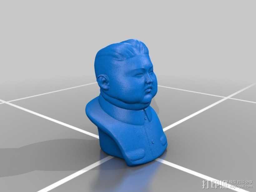 朝鲜 国家 元首 金正恩 头像 3D打印模型渲染图