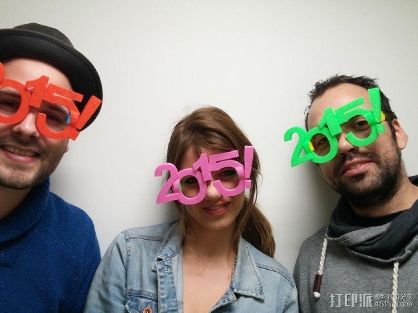 2015年 跨年 眼镜 3D打印模型渲染图