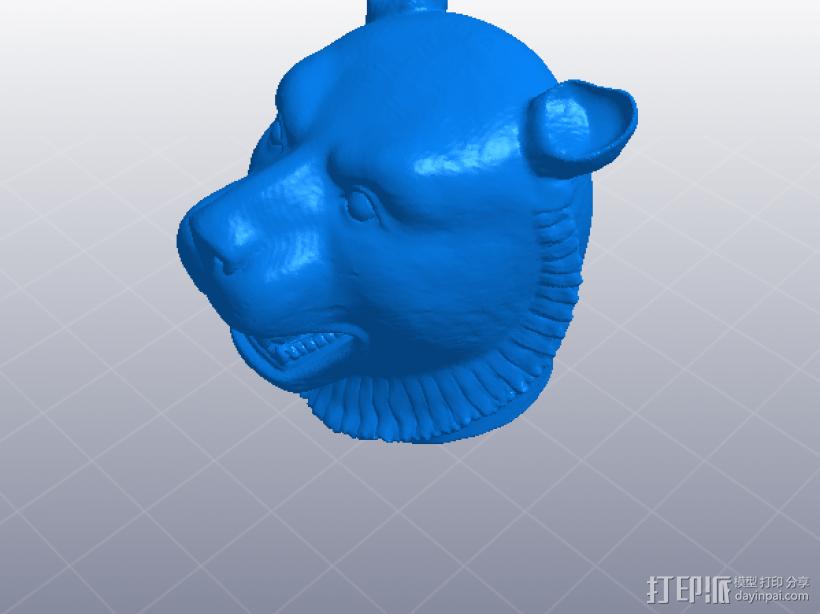 十二生肖 虎头 模型 3D打印模型渲染图