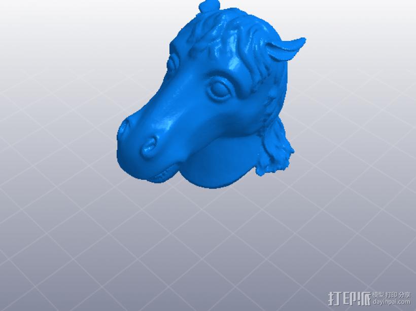 十二生肖 马头 模型 3D打印模型渲染图