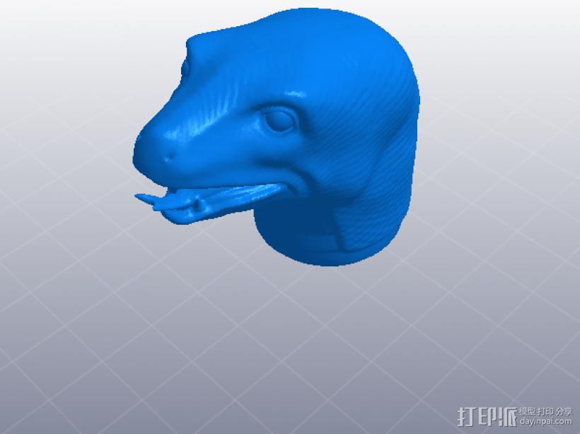 十二生肖 蛇头  模型 3D打印模型渲染图