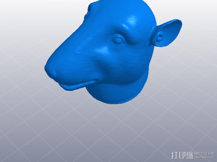 十二生肖 鼠头  模型 3D打印模型渲染图