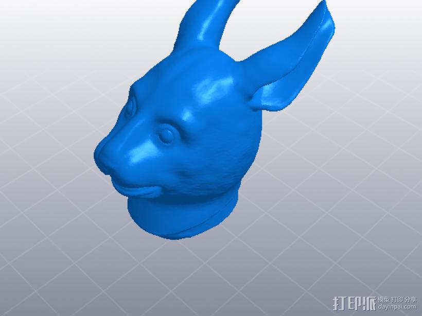十二生肖 兔头 模型 3D打印模型渲染图