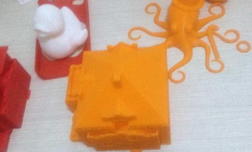 房子 3D打印实物照片