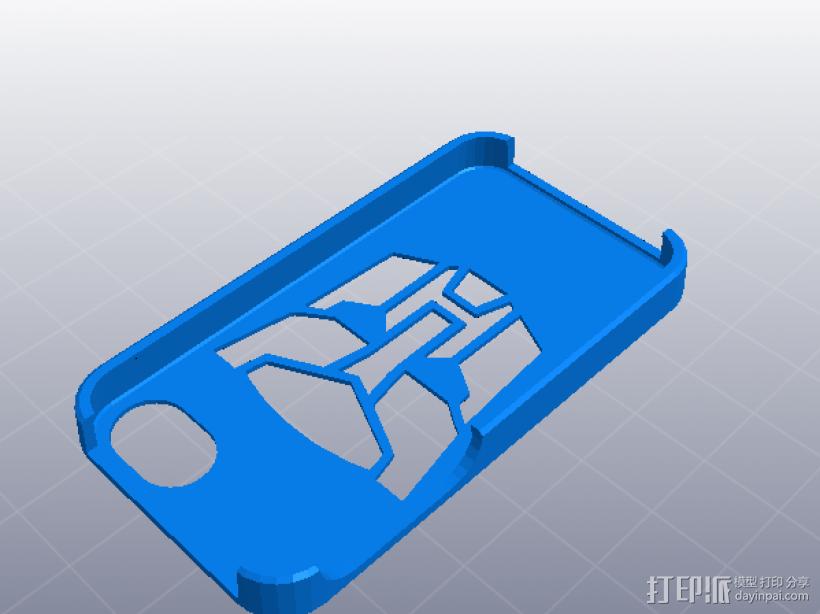 IPHONE 4 -4S手机壳 3D打印模型渲染图