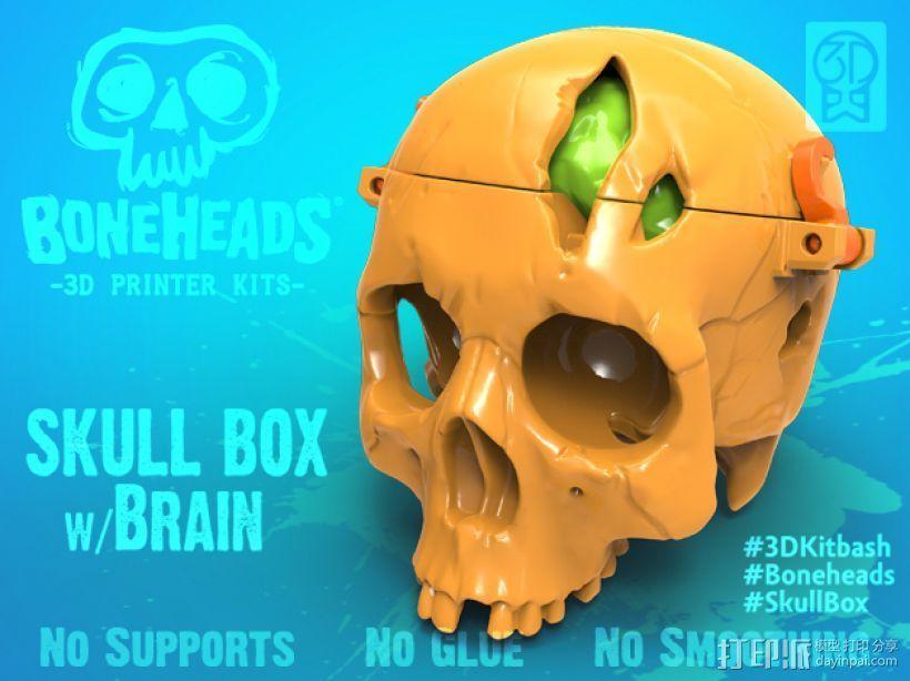 骷髅 3D打印模型渲染图