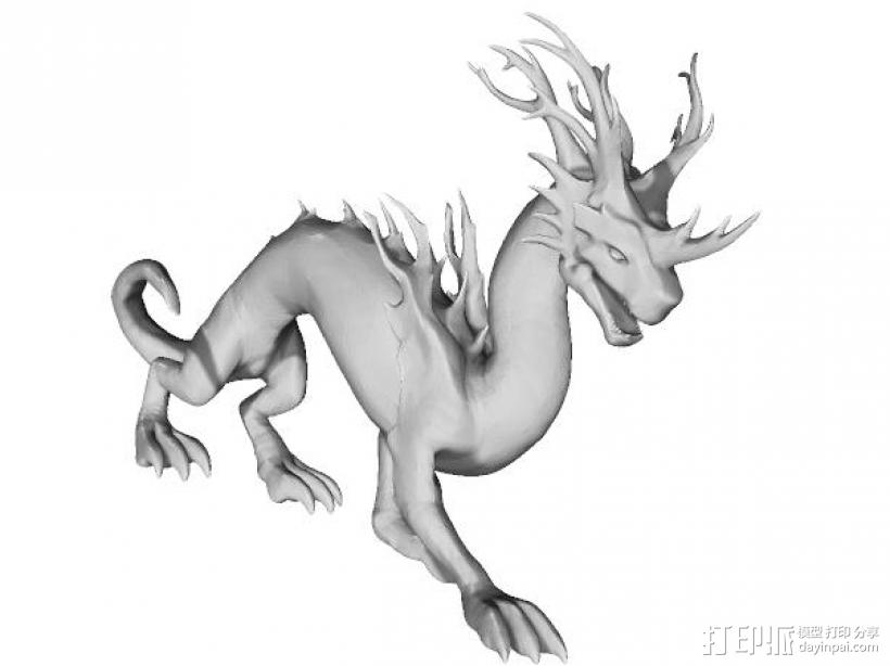 英雄无敌-马拉萨,黑暗之龙3D打印手办 3D打印模型渲染图