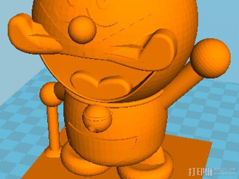 哆啦A梦 3D打印模型渲染图