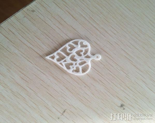 吊坠 3D打印模型渲染图