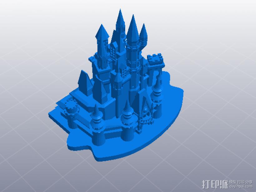 灰姑娘的城堡 3D打印模型渲染图