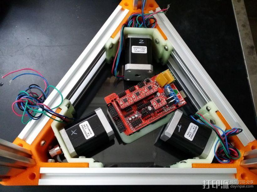2040立柱的3D打印机 3D打印模型渲染图