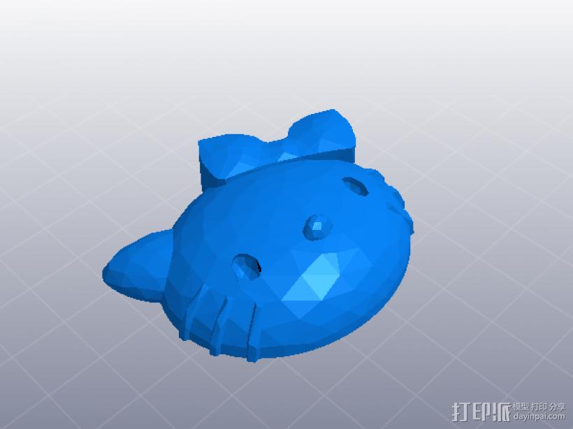 hello kitty 女生版 3D打印模型渲染图
