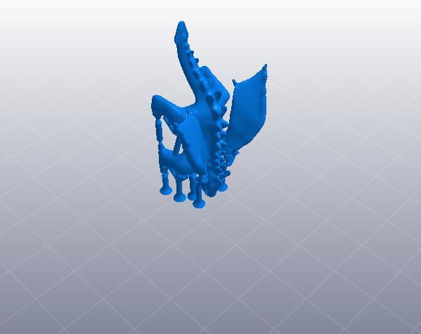 威猛的龙 有翅膀 3D打印模型渲染图