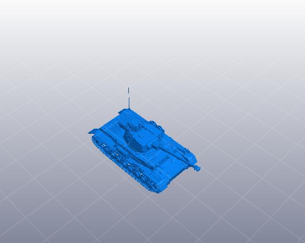 德国高细节坦克 3D打印模型渲染图