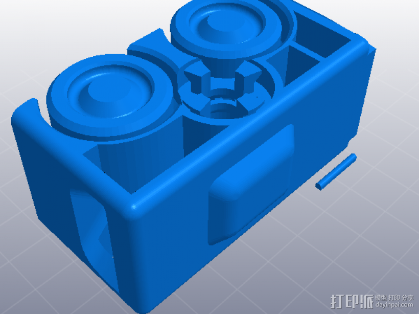 橡皮筋动力车 3D打印模型渲染图