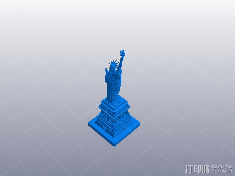 自由女神 分解版 3D打印模型渲染图
